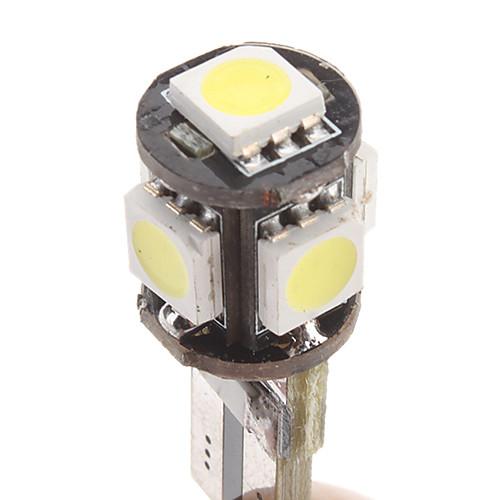 t10 1w 5x5050smd белый свет Светодиодные лампы для автомобилей инструмент / боковой габарит CANbus (12v, 1-пара)  76.000