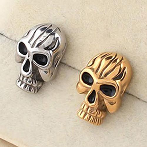 eruner1pcs модели серьги титана стали черепа (разных цветов)