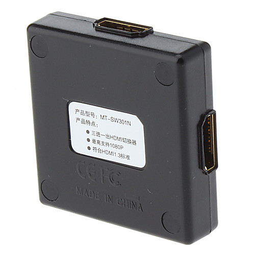 бесплатно Кабель HDMI (1,5 м)  1080 3-порт v1.3 HDMI Splitter поддерживает 3d 1080p бесплатную доставку  676.000