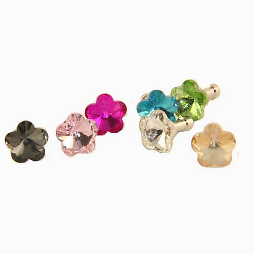 сплав циркон цветок сливы модель защиты от пыли разъем (случайные цвета)  42.000