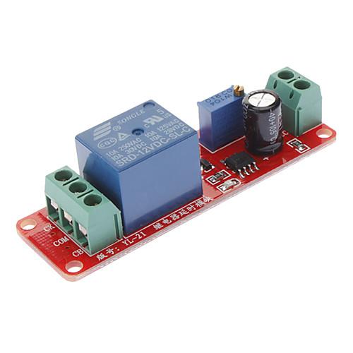 Таймер задержки переключателя Регулируемые 0 до 10 секунд с NE555 12В Осциллятор