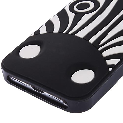черная зебра мягкий чехол для iphone 5/5s  300.000
