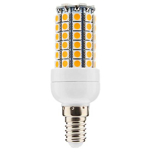 E14 6W 69x5050SMD 500-600LM 3000-3500K теплый белый свет Светодиодная лампа кукурузы (220-240V)  257.000