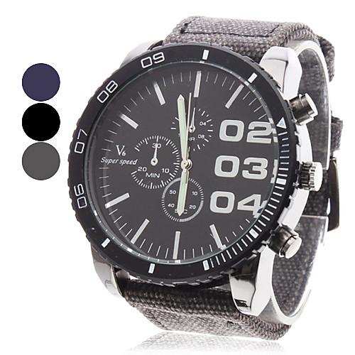 Мужской Наручные часы Японский кварц Материал Группа Черный / Синий / Серый бренд- V6 <br>