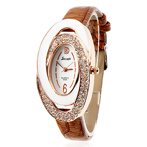 PU женщин Аналоговые кварцевые наручные часы (разных цветов)  386.000