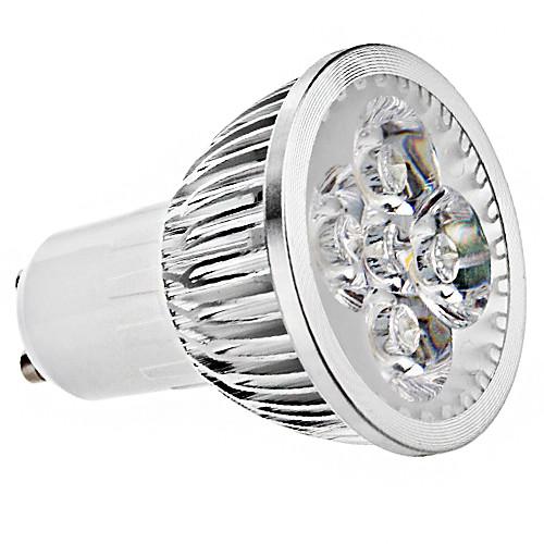5W 400lm GU10 Точечное LED освещение MR16 4 Светодиодные бусины Высокомощный LED Тёплый белый Холодный белый 85-265V цена