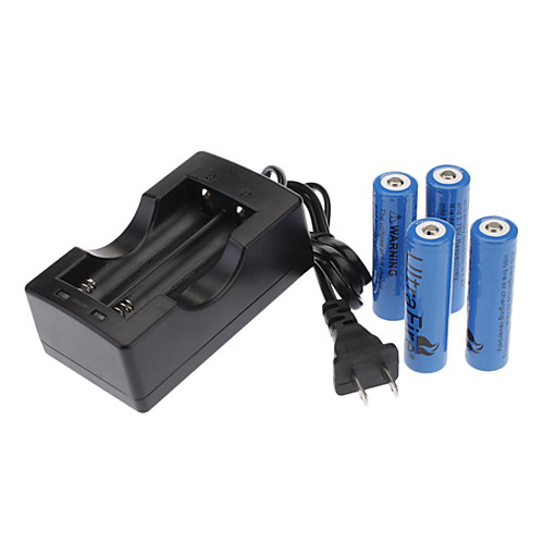 UltraFire 18650 литий-ионная аккумуляторная батарея с зарядным устройством (2400mAh, 3.7V, 4/Pack)  685.000