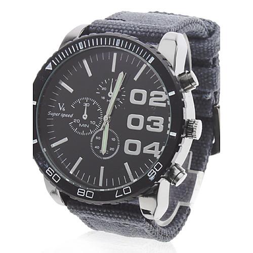 V6 Муж. Наручные часы Армейские часы Кварцевый Японский кварц Повседневные часы Материал Группа Кулоны Черный Синий Серый от MiniInTheBox.com INT