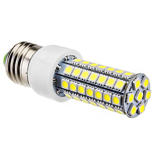 E27 6W 63x5050SMD 510-550LM 6000-6500K Природный белый свет светодиодных кукурузы лампа (220-240V)  386.000