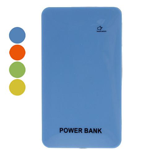 Тонкий портативный банк питания для мобильных устройств (6000mAh, оранжевый / желтый / синий / зеленый)  1115.000