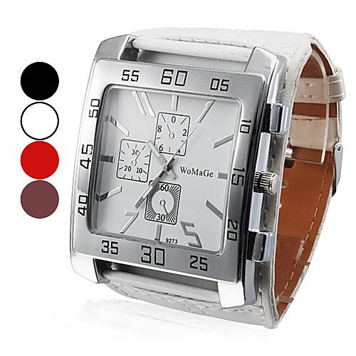 Мужской Наручные часы Кварцевый PU Группа Черный / Белый / Красный / Коричневый бренд- <br>