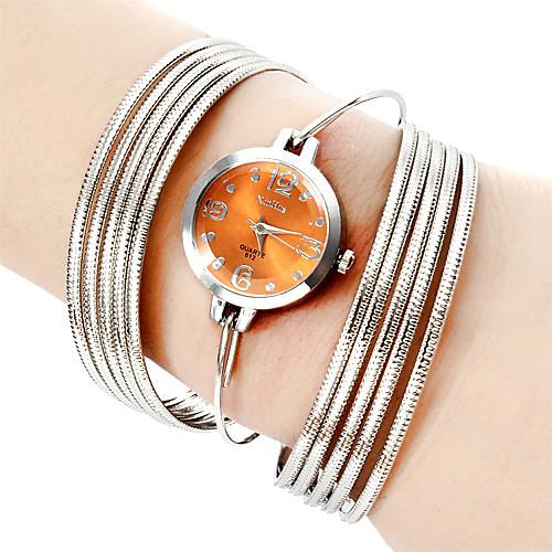 Модное женщин типа стали аналоговые кварцевые часы браслет (разных цветов)  386.000