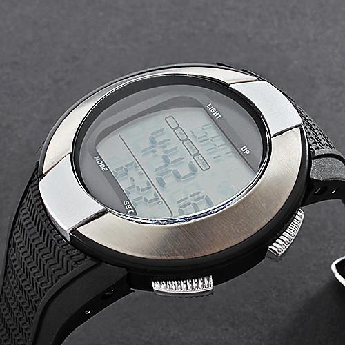 унисекс пульсометр серебряной оправе черного силиконовой лентой цифровой наручные часы с счетчиком калорий  773.000