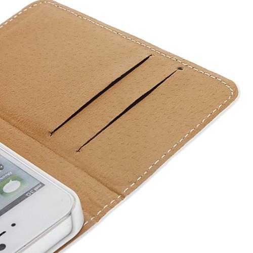 милые ежедневного использования шаблон PU случае для всего тела со слотом для карт PC и задняя крышка для iphone понимание 5/5s  257.000