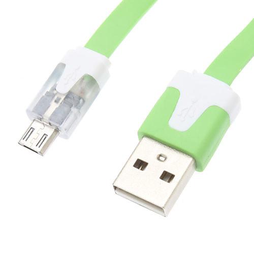 Светодиодный мерцающий USB дата кабель для мобильного телефона Samsung (разных цветов)