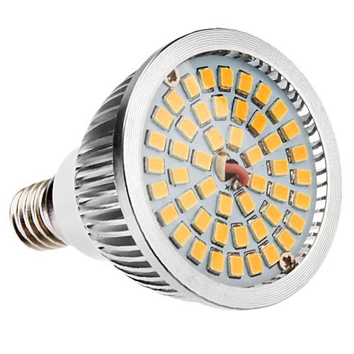 Светодиодные спот лампы, теплый белый свет (110-240V), E14 6W 48x2835SMD 580-650LM 2700-3500K <br>