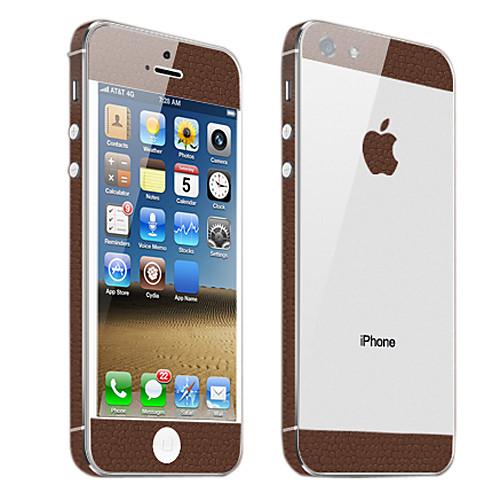 Скалы коричневым узором кожи тела Guard для iPhone 5  171.000