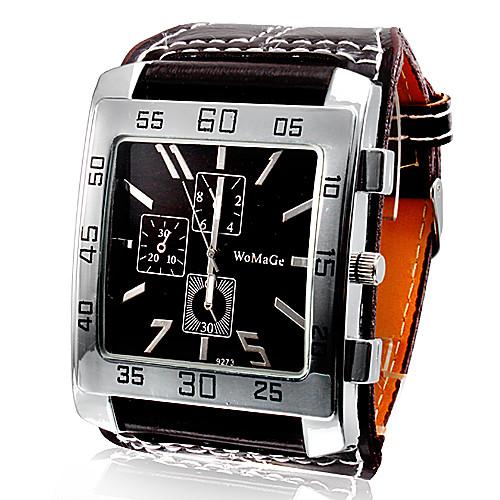 Муж. Наручные часы Кварцевый PU Группа Черный Белый Красный Коричневый от MiniInTheBox.com INT