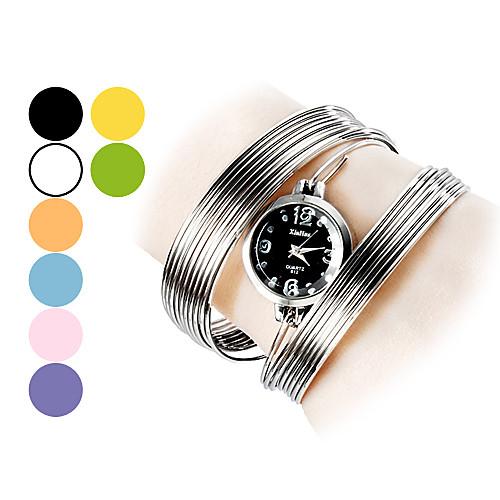 Модное Pattern Женские стали аналоговые кварцевые часы браслет (разных цветов)  386.000