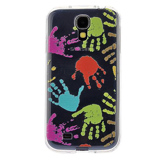 Красочные Отпечатки рук мягкий чехол для Samsung Galaxy i9500  214.000
