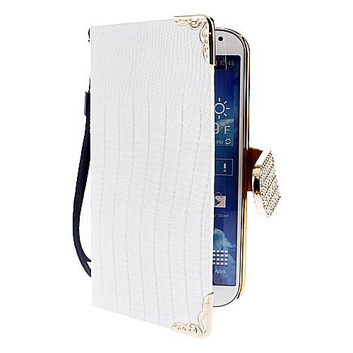 Крокодил зерна искусственная кожа с карты памяти для Samsung Galaxy i9500 S4 (разных цветов)  558.000