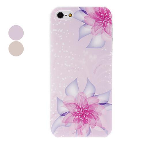 цветущие кристаллов цветочным узором прозрачная рамка PC жесткий футляр для iphone 5/5s (разных цветов)  128.000