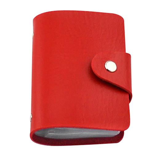 24-слоты Красочный мужской кожаный PU владельца карты  137.000