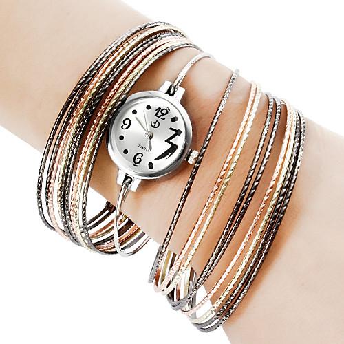 Сталь Женские аналоговые кварцевые часы браслет (Multi-Color)  386.000