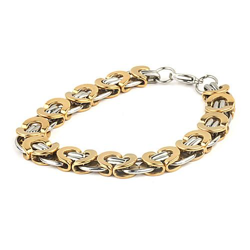 модно плоские золотые титана стальной браслет  343.000