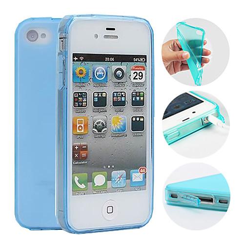 Кейс для Назначение iPhone 4/4S Apple Кейс на заднюю панель Мягкий ТПУ для iPhone 4s/4