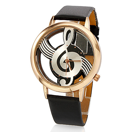 Женские аналоговые кварцевые наручные часы с креативным циферблатом и ремешком из кожзама (разные цвета)  386.000