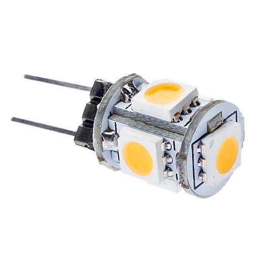 0.5W 50-100lm G4 LED лампы типа Корн T 5 Светодиодные бусины SMD 5050 Тёплый белый 12V