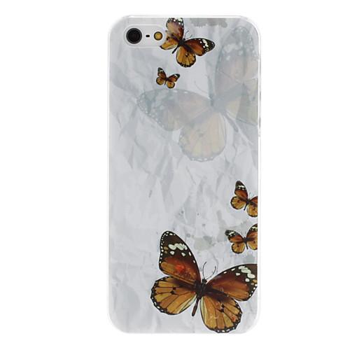бабочки картины прозрачная рамка PC жесткий футляр для iphone 5/5s  128.000