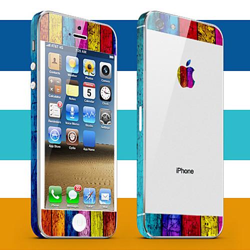 Окрашенная Pattern Доски кожи тела Guard для iPhone 5  171.000