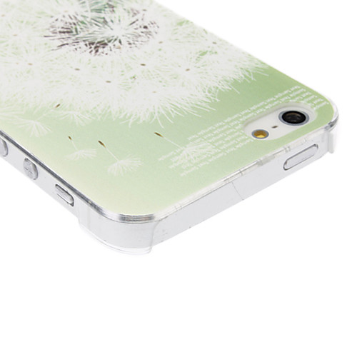 Одуванчик шаблон прозрачная рамка PC жесткий футляр для iphone 5/5s  128.000