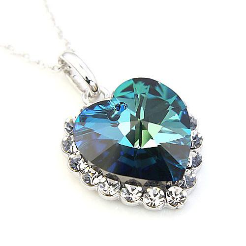 красивый сплав сердце Hape и Crytal ожерелье женщин  816.000