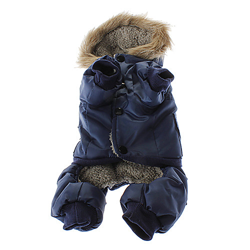 Теплый костюм для собак, состоящий из штанишек и курточки с капюшоном.  858.000