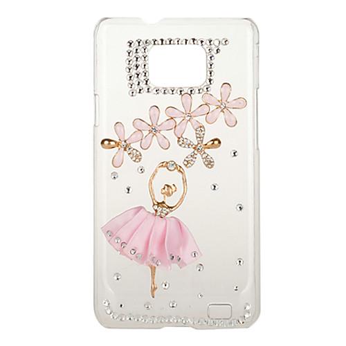 Циркон Dancing Girl Счастливый клевер Pattern Case для Samsung Galaxy S2 I9100  343.000