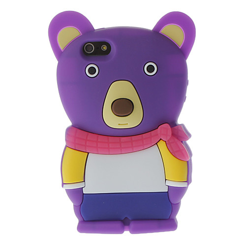 3D Медведь Стиль силикагеля мягкий чехол для iphone 5/5s (разных цветов)  343.000