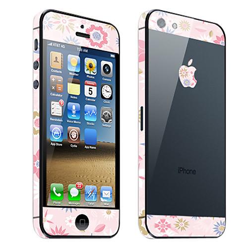 Розовый цветочный узор кожи тела Guard для iPhone 5  171.000
