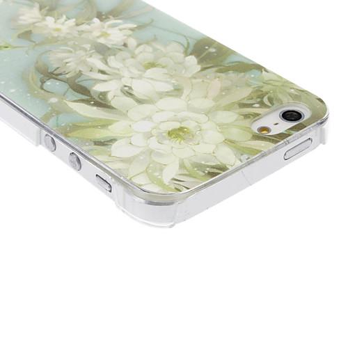 зеленый цветочный узор прозрачная рамка PC жесткий футляр для iphone 5/5s  128.000