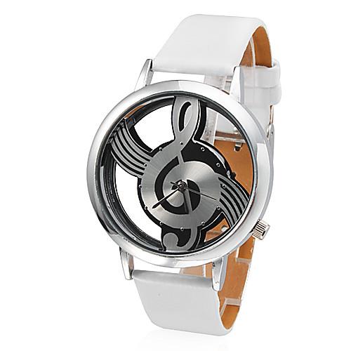 Женские Модные часы Кварцевый PU Группа Белый бренд- <br>