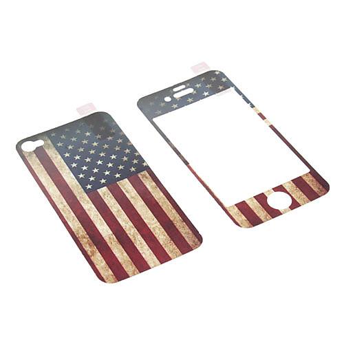 Звезды и полосы шаблон Фильм Protector Комплект с Ткань для очистки для iPhone 4/4S  171.000