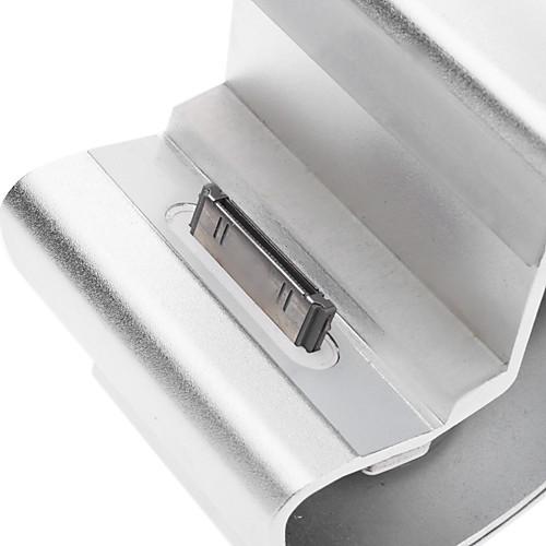 Алюминиевые сплавы Материал зарядное устройство с подставкой и 8pin к USB Выдвижной кабель для iPhone 4/4S (30pin, серебро)  558.000