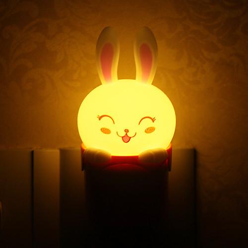 Прекрасные Кролик Стиль Подключите свет светодиодной Night Light