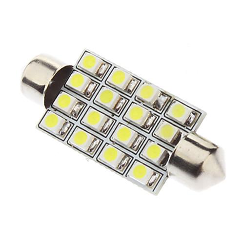 LED лампочка Festoon 41мм 1.5Вт 16xSMD3528 для салона авто с белым светом (12В)  76.000