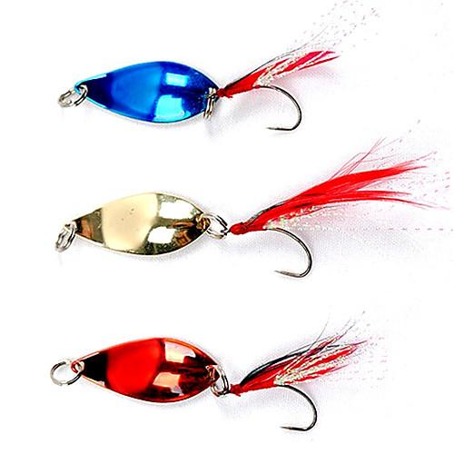 Красочные рыболовный крючок с перьями приманки (5 г, цвет Ramdon)