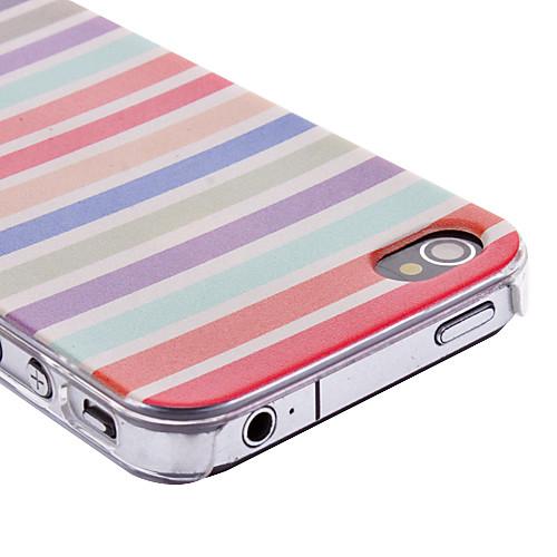 Красочным узором слоев прозрачная рамка Цветные Case Рисование ПК для iPhone 4/4S  128.000
