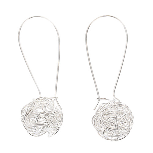 Women's Drop Earrings Ball Cheap Ladies Silver Plated Earrings Jewelry Silver For Party Daily