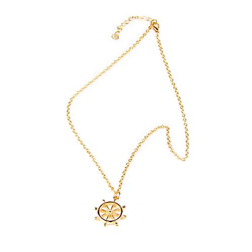Золотой Ожерелья с подвесками Сплав Для вечеринок Бижутерия